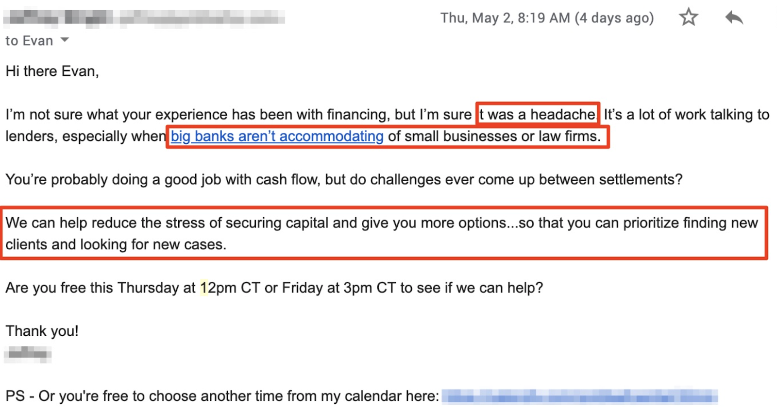 consulting skill: sending emails